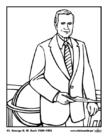 Malvorlage  41 George H. W. Bush