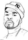 Malvorlage  50 Cent
