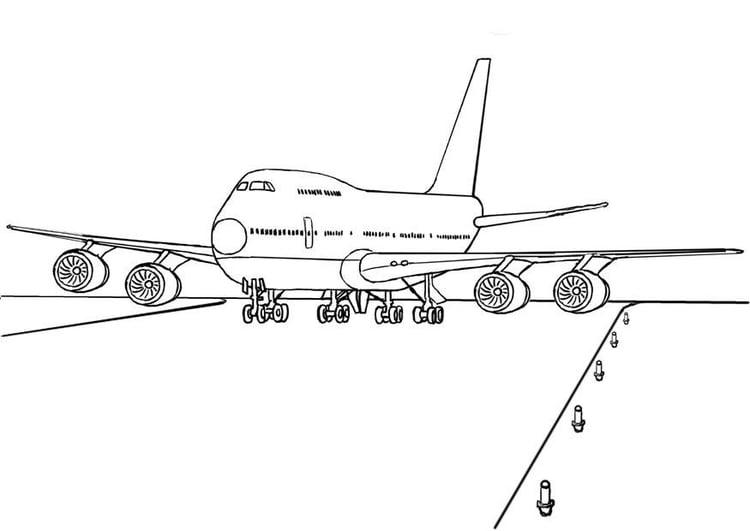 malvorlage 747 flugzeug  kostenlose ausmalbilder zum