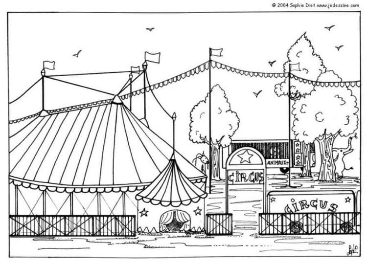malvorlage zirkus  ausmalbild 6434