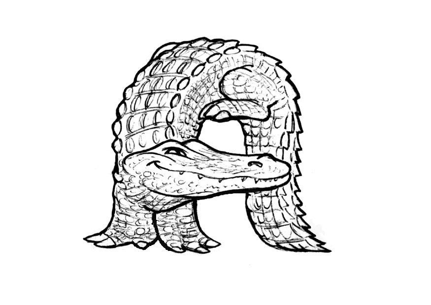 Malvorlage a-alligator | Ausmalbild 24829.