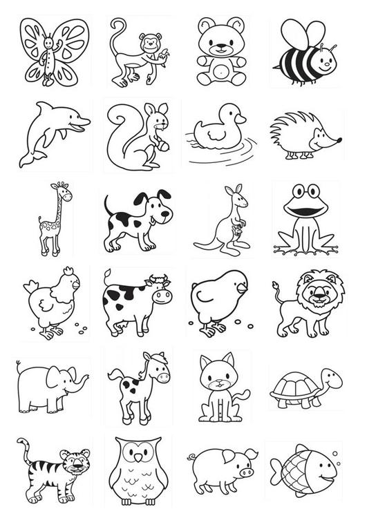 Malvorlage Abbildungen für Kleinkinder | Ausmalbild 20781.