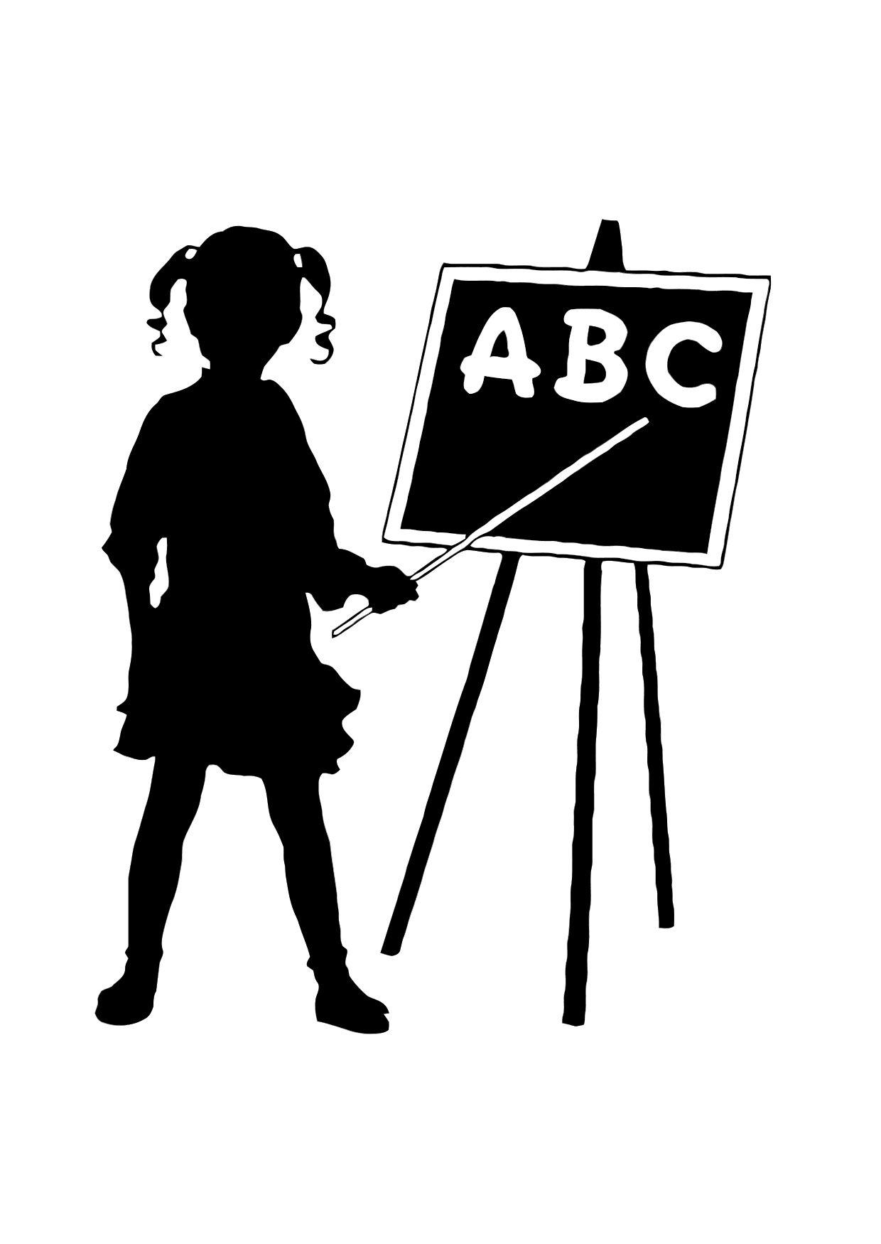 Malvorlage ABC | Ausmalbild 11874.