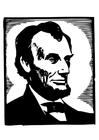 Malvorlage  Abraham Lincoln