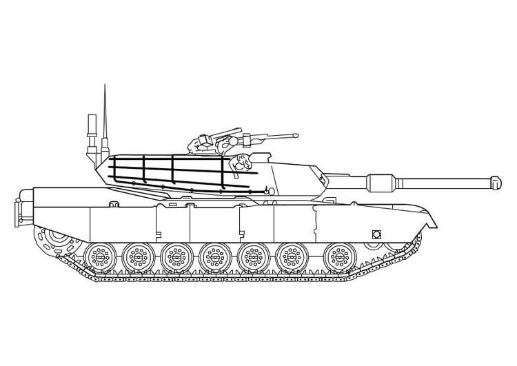 Malvorlage Abrams Panzer Ausmalbild 10142