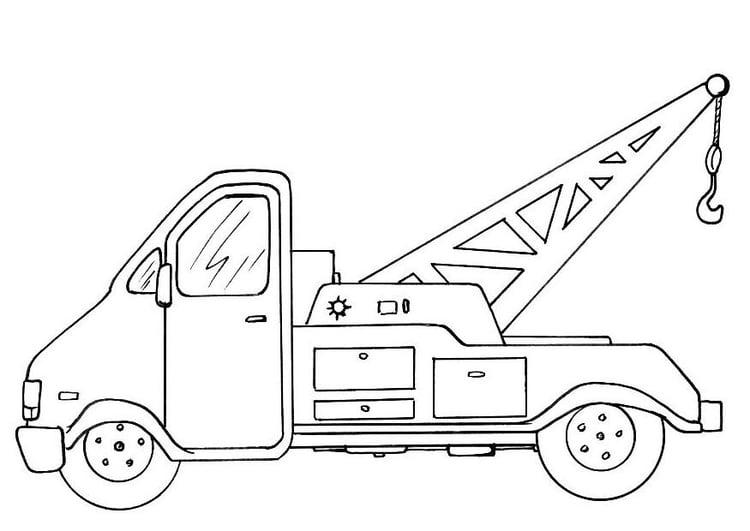 malvorlage abschleppwagen  ausmalbild 8154