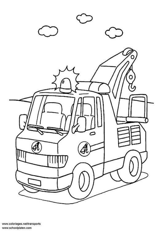 Malvorlage Abschleppwagen Ausmalbild 3086