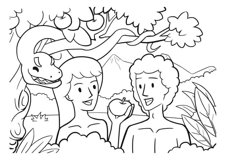 Malvorlage Adam und EVa | Ausmalbild 29832.