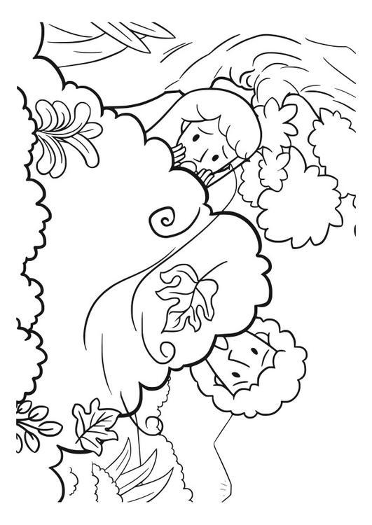 Malvorlage Adam und Eva | Ausmalbild 29831.