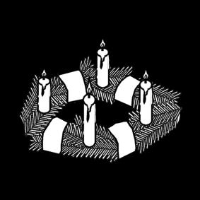 Malvorlage Adventskranz Ausmalbild 20535