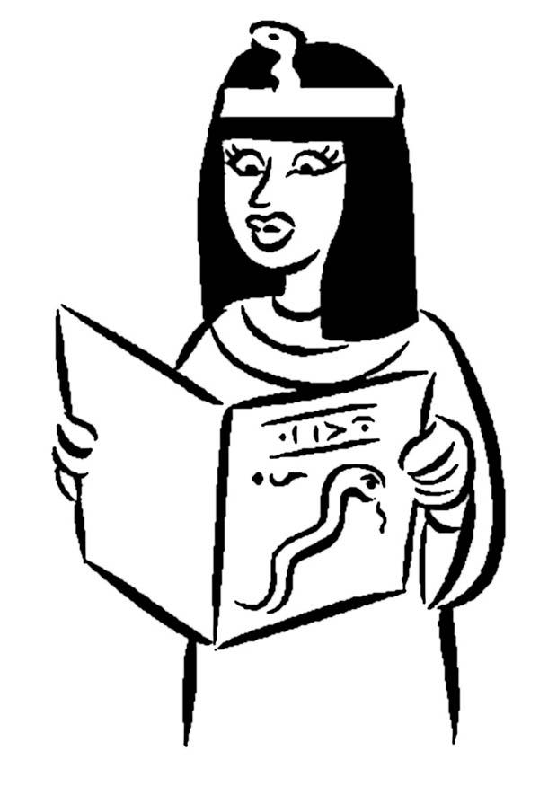 Malvorlage ägyptische Frau Kostenlose Ausmalbilder Zum