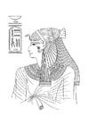 Malvorlage  Ägyptische Frau