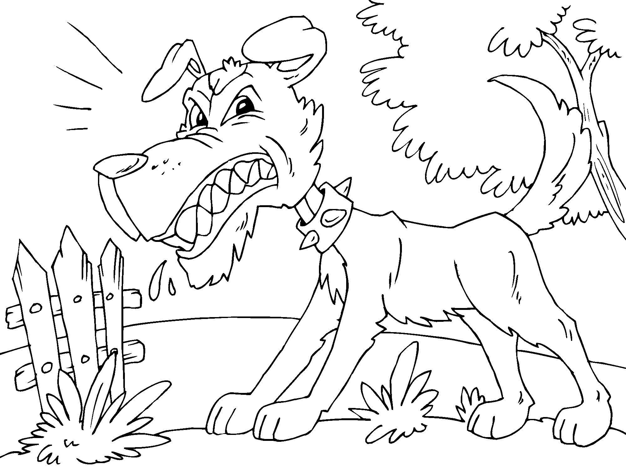 malvorlage ärgerlicher hund  kostenlose ausmalbilder zum