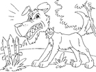 Malvorlage  ärgerlicher Hund