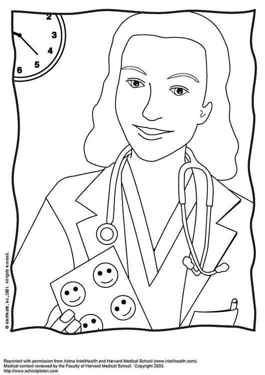 malvorlage Ärztin  kostenlose ausmalbilder zum ausdrucken