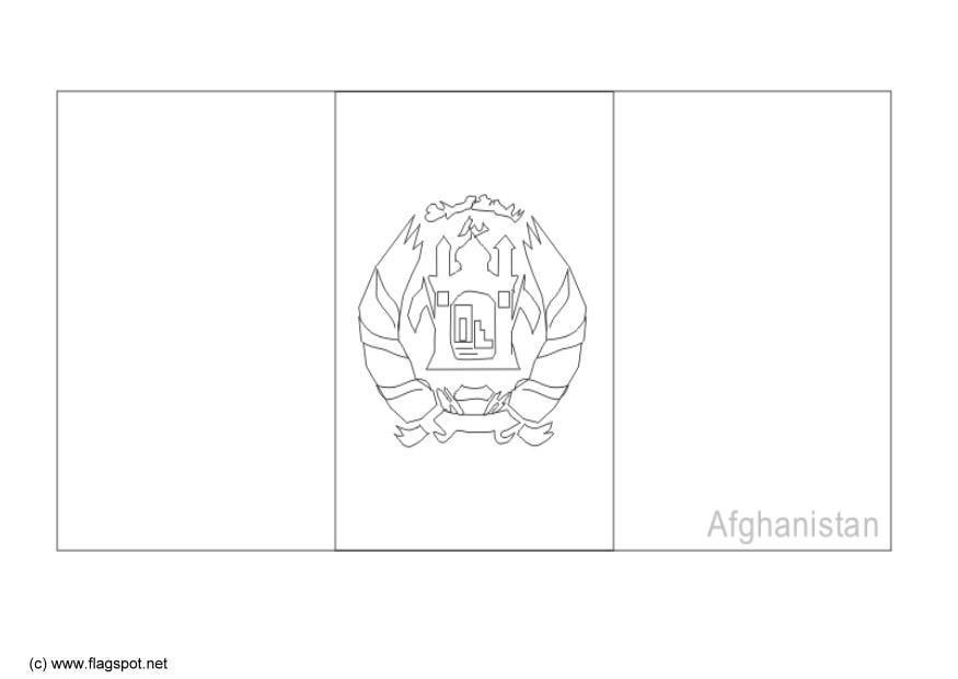 Afghanistan Flag Outline