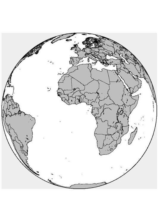 Malvorlage Afrika-Europa   Ausmalbild 8313.