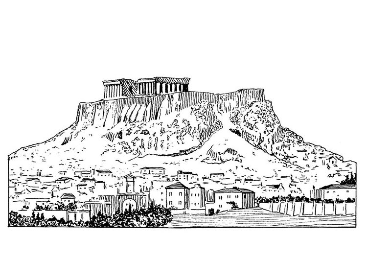 Malvorlage Akropolis | Ausmalbild 18886.