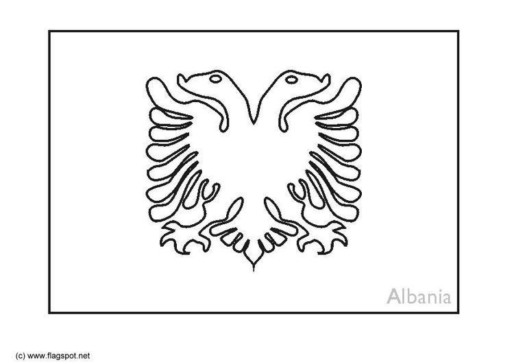 Malvorlage Albanien   Ausmalbild 6364.