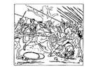 Malvorlage  Alexander vertreibt die Perser