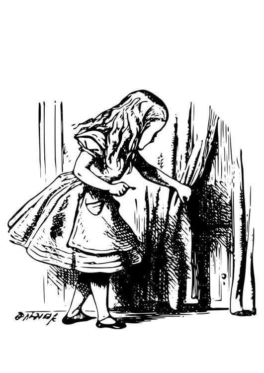 Malvorlage Alice Im Wunderland Alice Mit Schlüssel Ausmalbild 19044