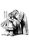 Malvorlage  Alice im Wunderland - Alice mit Schlüssel