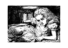 Malvorlage  Alice im Wunderland - im Kaninchenstall