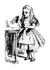 Malvorlage  Alice im Wunderland - trink mich