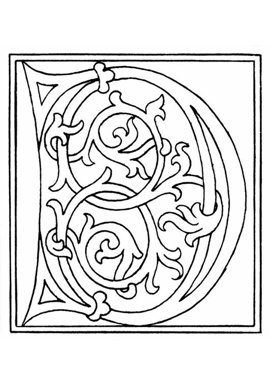 Kleurplaten Kleine Letters.Alfabet Kleine Letters Kleurplaat Malvorlage 01a Alphabet D