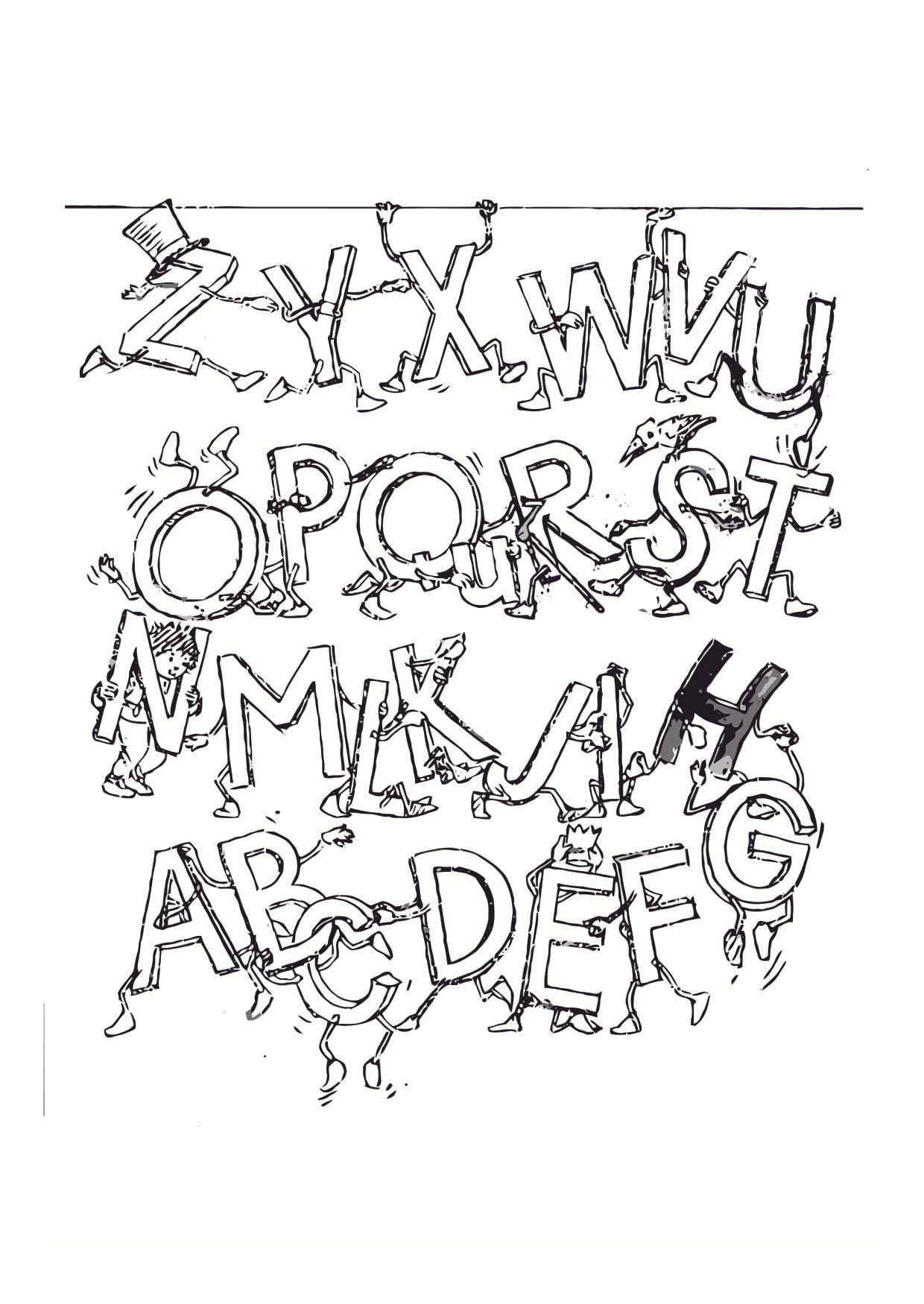 Malvorlage Alphabet - Kostenlose Ausmalbilder Zum Ausdrucken