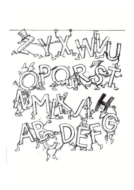 Malvorlage Alphabet | Ausmalbild 11447.