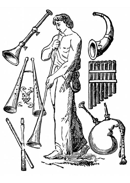 malvorlage alte instrumente  kostenlose ausmalbilder zum