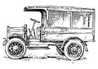 Malvorlage  alter Lastwagen