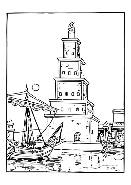 malvorlage alter leuchtturm  ausmalbild 10476