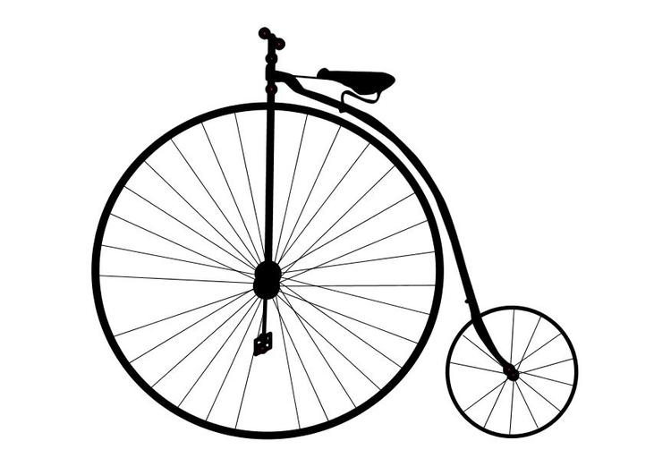 malvorlage altes fahrrad  ausmalbild 10100