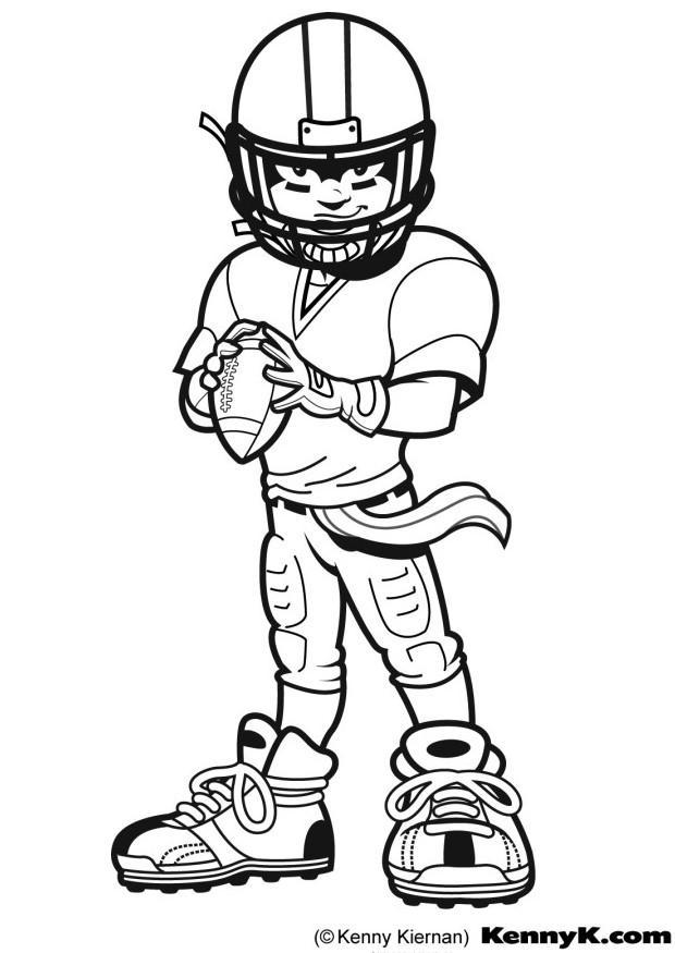 nfl coloring pages for kid - photo#25