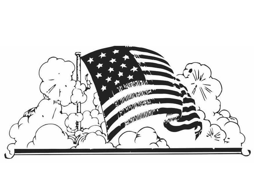 malvorlage amerikanische fahne  kostenlose ausmalbilder
