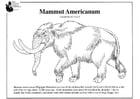 Malvorlage  amerikanisches Mammut