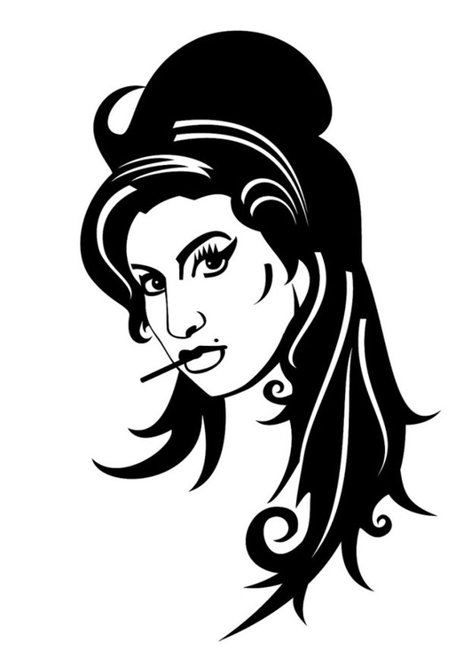Malvorlage  Amy Winehouse