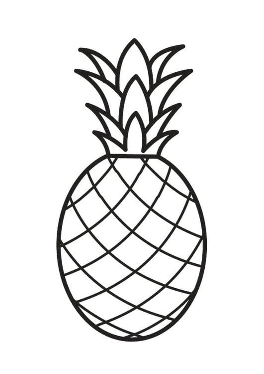 malvorlage ananas  kostenlose ausmalbilder zum ausdrucken