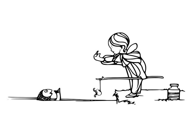 Malvorlage angeln | Ausmalbild 29182.