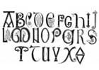 Malvorlage  anglosächsisches Alphabet 8. und 9. Jahrhundert