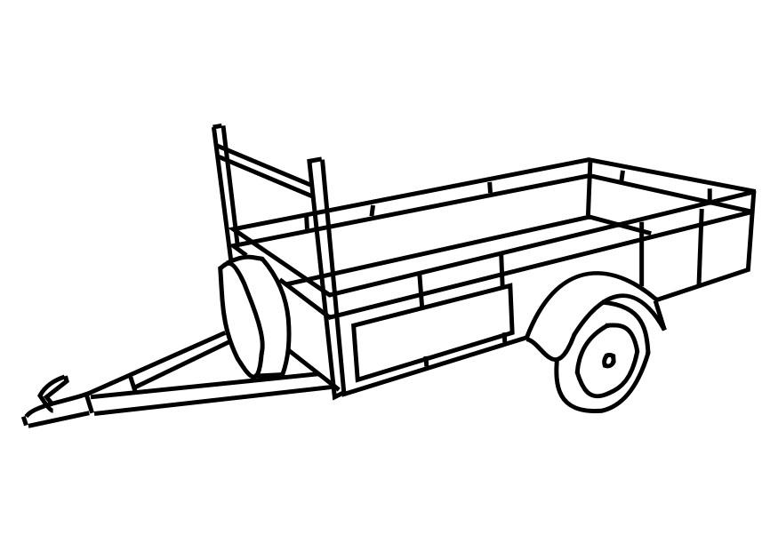 Kleurplaten Tractor Met Kar.Kleurplaat Tractor Met Kar Karre Ausmalbild Malvorlage Spielzeug