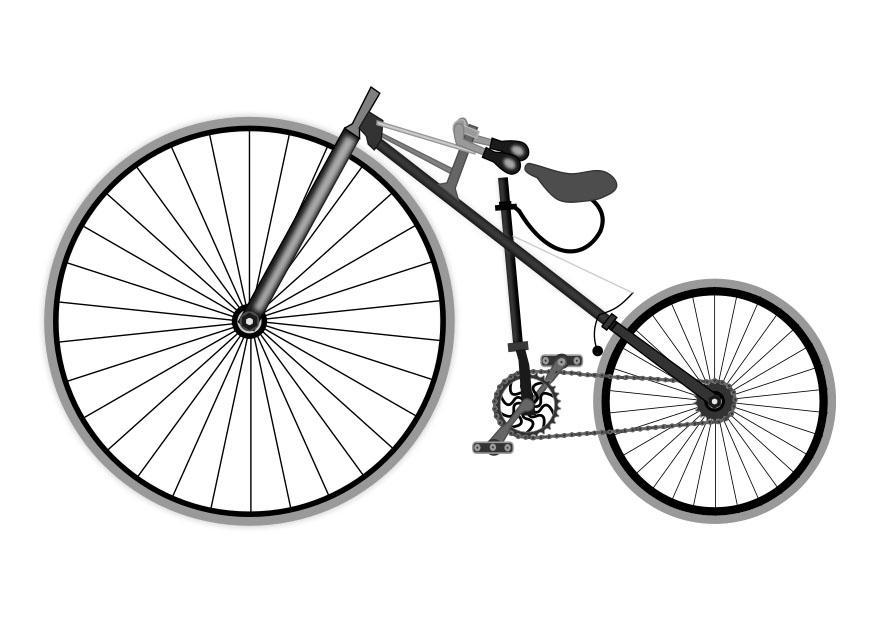 malvorlage antikes fahrrad  kostenlose ausmalbilder zum