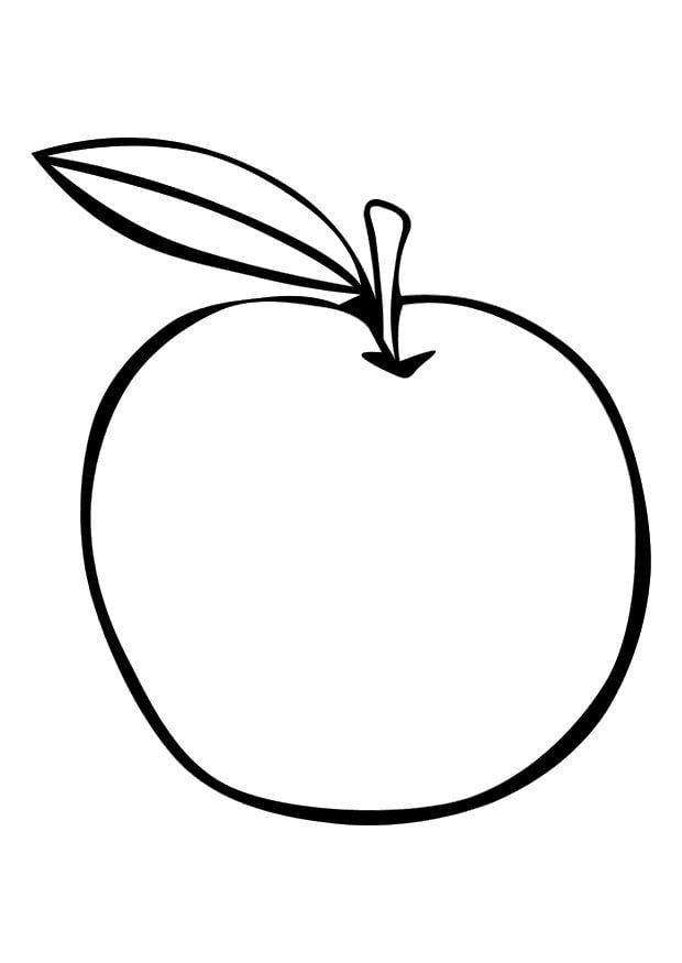 Malvorlage Apfel | Ausmalbild 10094.