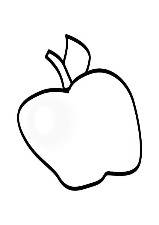Malvorlage Apfel Ausmalbild 19144