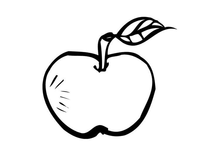 Malvorlage Apfel Ausmalbild 9549