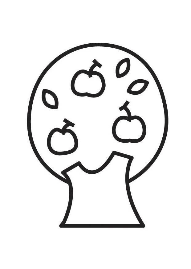 Malvorlage Apfelbaum | Ausmalbild 18544.