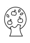 Malvorlage  Apfelbaum