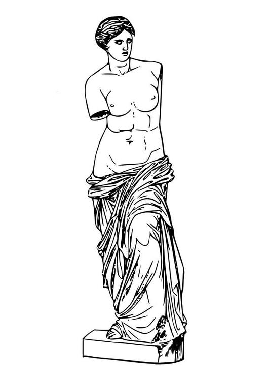 Malvorlage Aphrodite | Ausmalbild 18604.